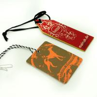 Cheap Colorful Craft Paper Hang Tags With String For Clothing , Fashion Business Hang Tags for sale
