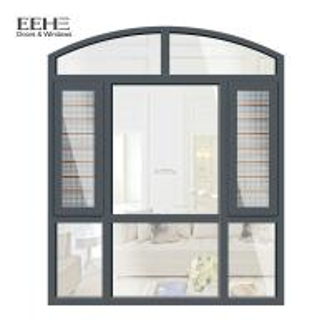 European Style gray aluminum windows with hinged windows aluminium