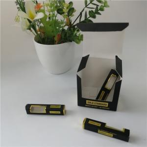 Cheap 350g 400g Custom Gift Boxes Hot Stamping Vape Cartridge CBD Oil Bottle Coated Paper for sale