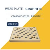 Cheap Wear Strip Ways Plain Bearing Solid Bronze Graphite Plugs Drilled & Counterbored Holes for sale
