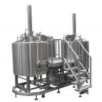AISI 304 Pub Brewery Equipment , 15 BBL Steam Heated Brewhouse For Brewing Institute 3mm