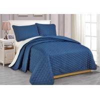Buy cheap 100% Polyester Microfiber Ultrasonic Bed Spread Sets 55gsm-140gsm from wholesalers