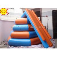 Cheap Airtight 0.9mm PVC 4m In Diameter And 3m In Height Inflatable Floating Water Slide for sale