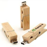 Cheap Clip Shape Wooden Thumb Drive Memory Stick Storage Device for sale