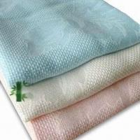 Cheap Blankets, Made of 100% Bamboo Fiber with Jacquard, Available in Various Colors and Sizes for sale