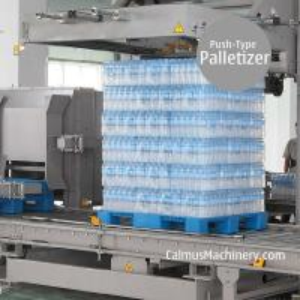 Cheap Film Pack Palletizing Machine Shrink Wrap Push-type Carton Palletizer for sale