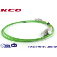 Buy cheap Lime Green Single Mode Fiber Optic Patch Cables 50/125 OM5 SC Duplex Simplex from wholesalers