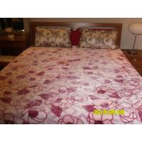 Cheap Antistatic Pink Purple Micro Fiber Blanket Printed Cozy With 100% Polyester wholesale