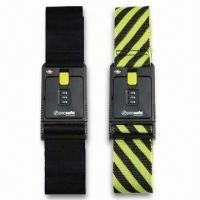 Cheap Black/Yellow Luggage Straps/Belts, Available in Various Types, OEM Order are Welcome for sale