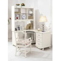 China luxury modern white wood home office corner desk furniture on sale