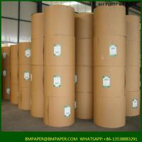 Cheap 100gsm virgin brown kraft paper for printing or making shopping bags for sale