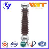 102KV 10KA Porcelain Lightning Arrester in Substation MOA Type Brown Color