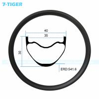 Cheap 7-tiger carbon mountain bicycle wheel rim 27.5er cross conuntry bike fat XC bike 30 x 40  holes Tubeless Compatible for sale
