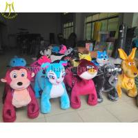 Cheap Hansel High Quality Hot Selling Coin Operated Zoo Animal Rides Plush Motorized Animal Rides Animal Scooters in mall for sale