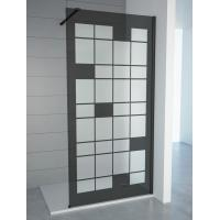Cheap Tempered Smoke Glass With Matt Walk In Shower Cubicles for sale