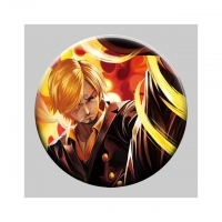 Cheap Flip Badge One Piece 3D Lenticular Pin With Luffy Zoro Anime for sale