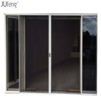 China Pleated Screens System Plisse Flyscreen Folding mosquito net door on sale