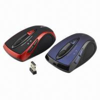 China 2.4G RF Technology Wireless Optical Mice with 10m Working Distance and Champ IC, 1,200dpi Resolution on sale