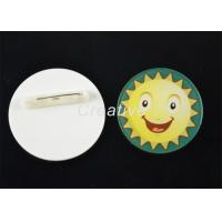 China Round Pin / Clip Plastic Conference Name Badges With 3D Epoxy Domed Finish on sale
