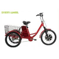 Cheap Pedals Assisted Electric Mobility Scooter , Electric Cargo Trike 36V 350W Motor for sale