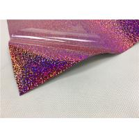 Quality 0.5*50M Laser Hologram Heat Transfer Vinyl , Pink Holographic Iron On Vinyl For wholesale