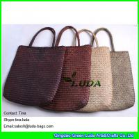 Quality fashion lady straw beach bags designer seagrass straw tote bags wholesale