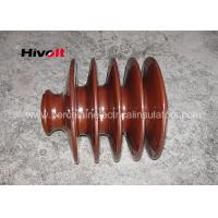 Cheap Distribution Lines 33kv Pin Insulator With Zinc Thread Brown BS Standard wholesale