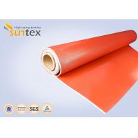 Quality 0.7 mm Thickness Silicone Coated Fiberglass Cloth For Fire Curtains And Fire wholesale