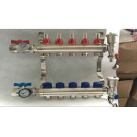 Long Lfow Meter Classical Brass Water Manifold For Heating Floor