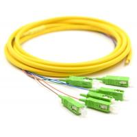 Cheap Simplex Fiber Optic Pigtail With SM Yellow Fiber Optic Cable Low Salt Spray for sale