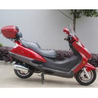 Cheap Two Headlights Blue Adult Gas Scooter , 150cc Motor Scooter With 2 Seats Real Leather wholesale