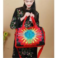 China Sun flower Handmade shoulder bags Red women messenger bag high grade lady shoulder bags Satin complicated Embroidered on sale