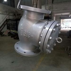 China 8 inch swing flange check valve RF class150 wcb API standard price on sale