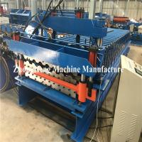 China Double-deck glazed tile roll roof forming machine with hydraulic motor control 25m/min on sale