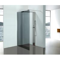 Cheap Grey Glass Bathroom Shower Enclosures With Stainless Steel Shower Column Panels for sale