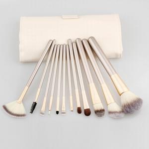 12pcs Cosmetic Brush Set Professional Makeup Brush Set With PU Bag