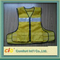 Cheap Polyester High Visibility Reflective Safety Vests Clohting With EN20471 CE Standard for sale