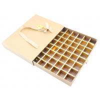 Drawer box with inner tray and paper divider and transparenet window