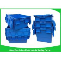 Recyclable 60L Plastic Attached Lid Containers Blue Customized For Agriculture