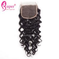 Quality Bleaching Knots on Lace Virgin Hair Closures 4x4 Hair Jerry Curl Weave Styles wholesale