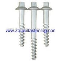 China HDG rail fastener sleeper screw on sale
