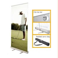 Cheap Portable Retractable Stand Up Banners , Pull Up Retractable Display Stands for sale
