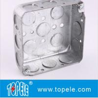 Buy cheap Galvanized Steel Electrical Boxes And Covers / 4 Inch Square Conduit Boxes with Knockouts from Wholesalers
