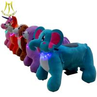 China Hansel plush toy motorized animals and zoo animal scooter battery operated with coin operated ride on horse on sale