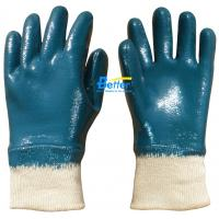 Cheap Heavyduty Cotton Jersey Shell & Nitrile Coated Work Gloves-BGNC202 for sale