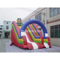 Cheap For Kids Colorful Pirate theme Commercial Inflatable Slide With Inflatable  PVC Arch. for sale