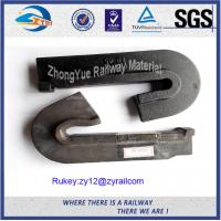 Cheap Low Carbon Steel Plain Railway Cast Iron Rail Shoulder For Elastic Clip for sale