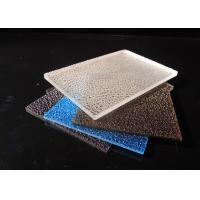 Cheap 3mm Embossed Solid Polycarbonate Sheet / Lichee Partition UV Polycarbonate Panels for sale