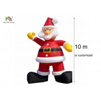 Cheap 210D Nylon 10 m H Inflatable Santa Claus Advertising Christmas Decoration for sale