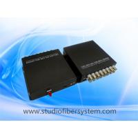 Cheap Compact 16 channel analog video fiber converter for 16CH HD video and 1ch RS485 over 1 single mode fiber for sale